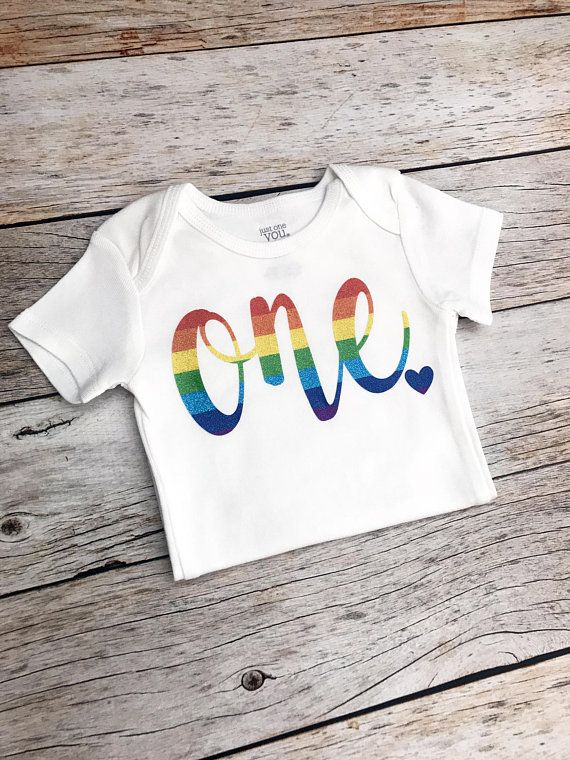 Rainbow Birthday Shirt Any Age Baby Girl Theme Party Bodysuit In 2018