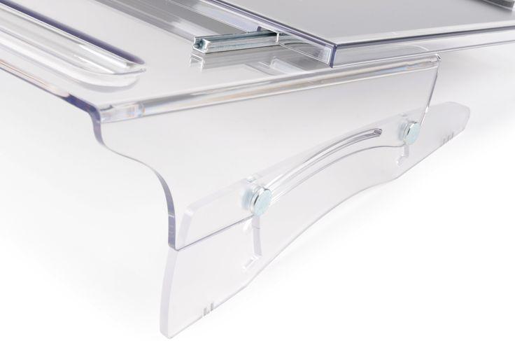 Support écriture | Porte documents coulissant Flexdesk640 Bakker Elkhuizen, zoom avant, boutique ergonomique, spécialiste du siège ergonomique