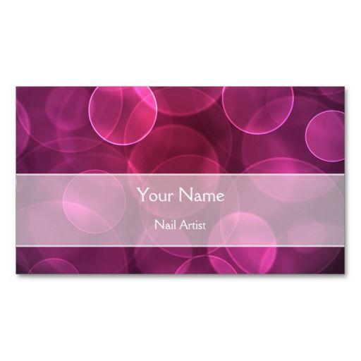 Elegant pink purple bokeh Business Card