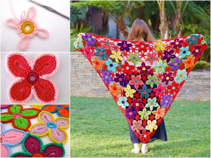 I love these bright and cheerful Hawaiian Flowers. It would be nice to make a shawl for this season.  Free patterm: http://wonderfuldiy.com/wonderful-diy-crochet-hawaiian-flower-with-free-pattern/