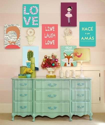 Encontralos en  http://articulo.mercadolibre.com.ar/MLA-596109639-cuadros-decorativos-modernos-frases-vintage-tripticos-_JM  #deco #cuadros #decorativo
