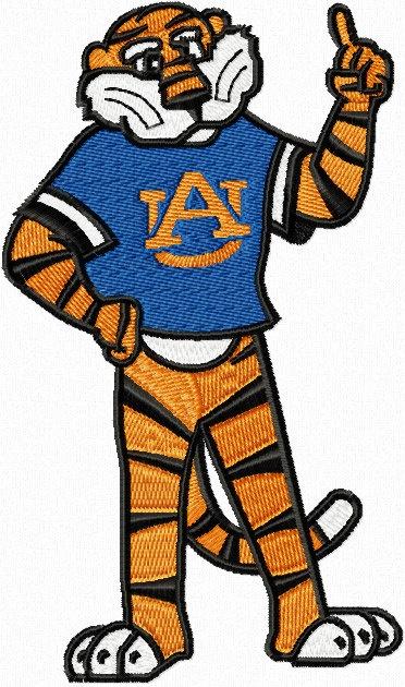 aubie tiger auburn university  machine embroidery by stitchmeup1   3 99