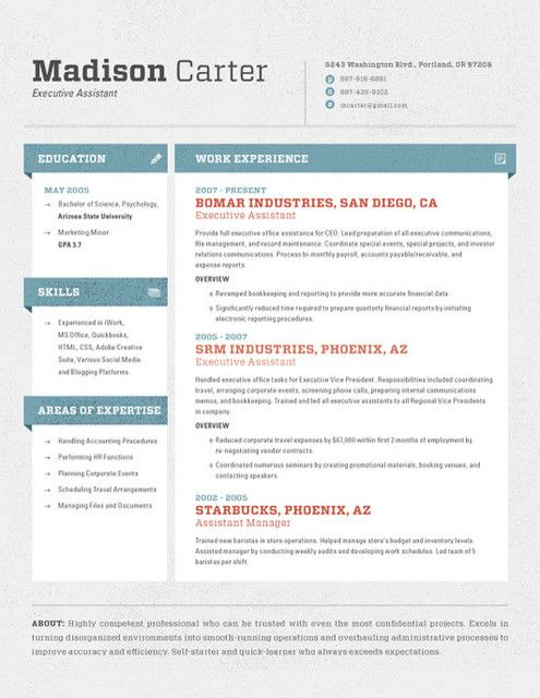 26 best CV collection images on Pinterest Resume templates - collections resume sample