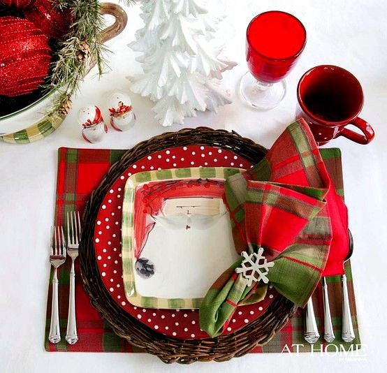 Holiday Place Settings: Christmas Place Setting.