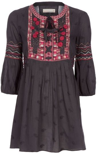 ODD MOLLY  Embroidered Tunic Top