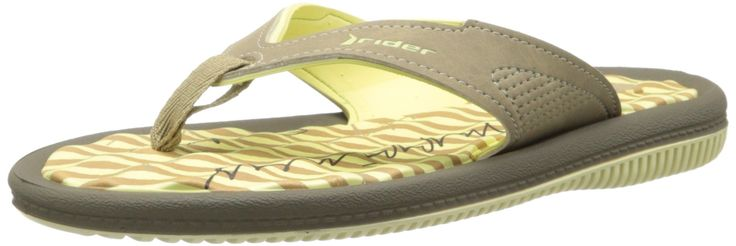 Rider Women's Dunasvi Thong Sandal,Green/Beige,7 M US. Quick dry upper. Ethylene vinyl acetate footbed.
