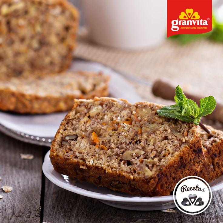 #Receta: Panqué de zanahoria con plátano y Granola Granvita 9 Semillas. 🍞  ¡Justo lo que necesitabas para tu café!