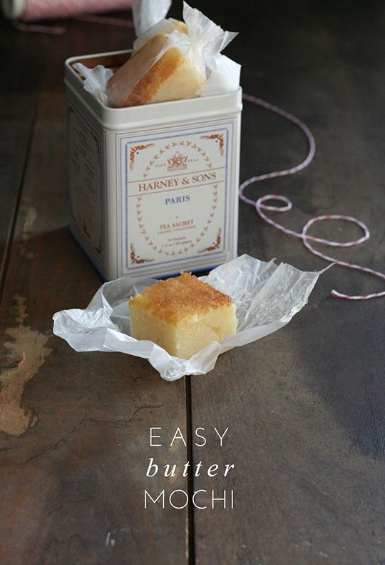 Easy and Decadent Butter Mochi Gluten Free and pretty fabulous-looking.  I may take a crack at these, either as a Yule Vigil treat, or for New Years Eve Cards Against Humanity.