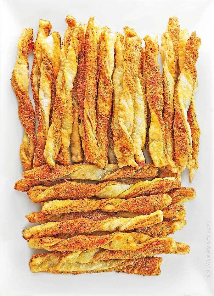 Smoky Spicy Cheese Straws Recipe | http://shewearsmanyhats.com/smoky-spicy-cheese-straws-recipe/