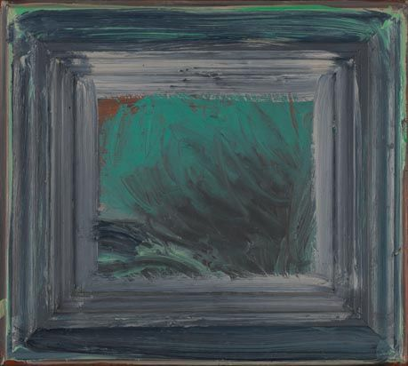 Mud on the Nile by Howard Hodgkin. Government Art Collection.