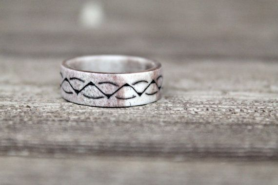 Antler wedding band antler ring womens antler by NORDICJEWELRY