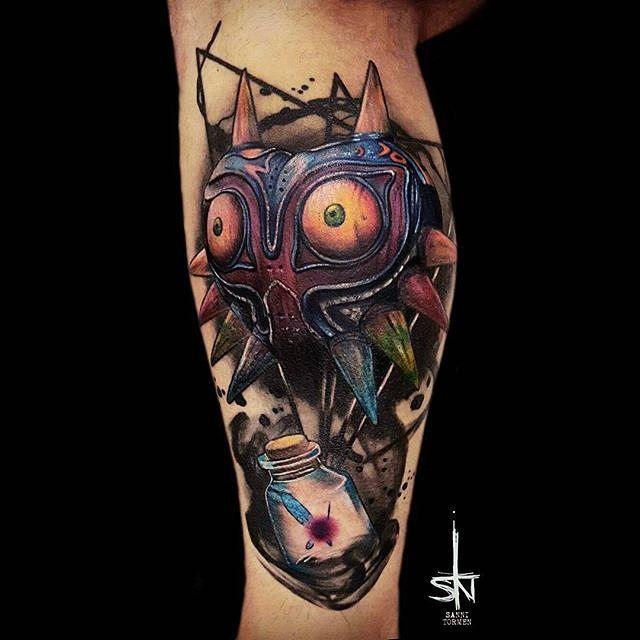 Majora's Mask tattoo done by @sanni_tormen.
