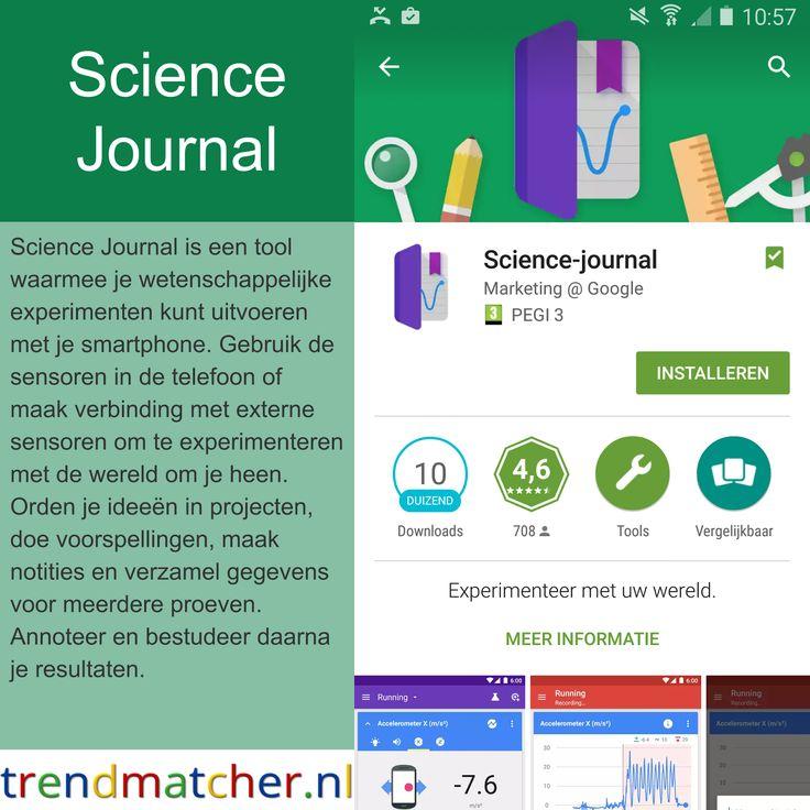 Trendmatcher tussen ICT en Onderwijs ™: Wetenschappelijke experimenten met je smartphone