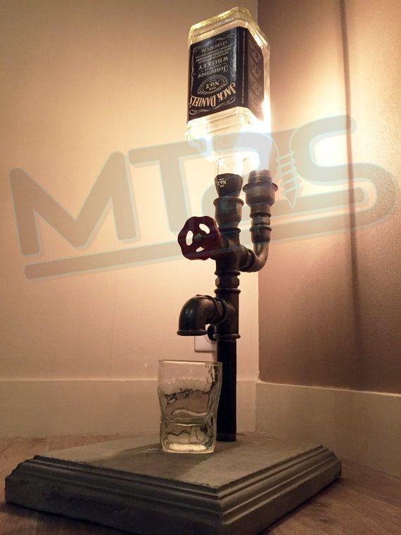 Jack daniels lamp distributeur vintage industriel par MT2Sdesign