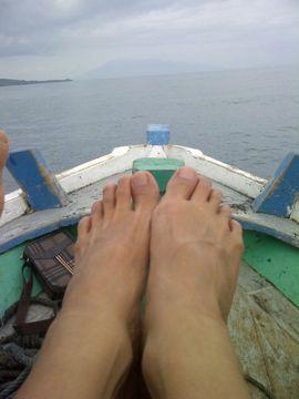 @Sunda Strait, to Mt. Krakatoa, West Java.