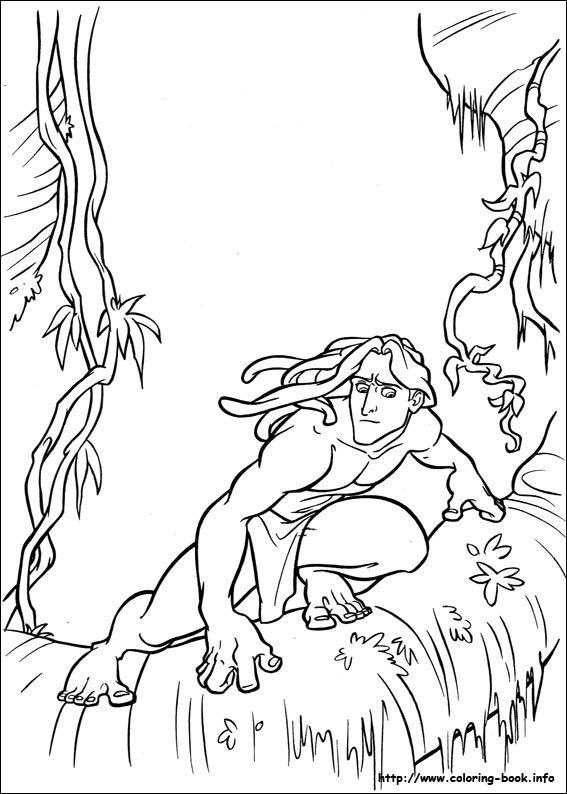 tarzan coloring picture - Coloriage Tarzan 3