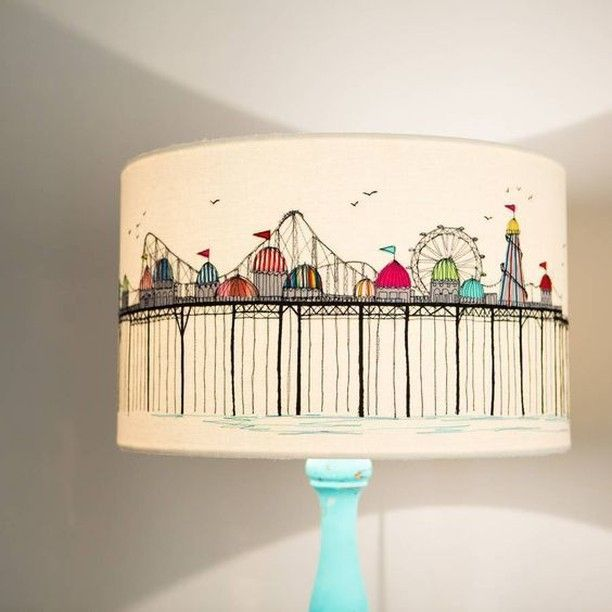 Drum Shade with Manual Stitch Work of a Carnival in UK via #notonthehighstreet