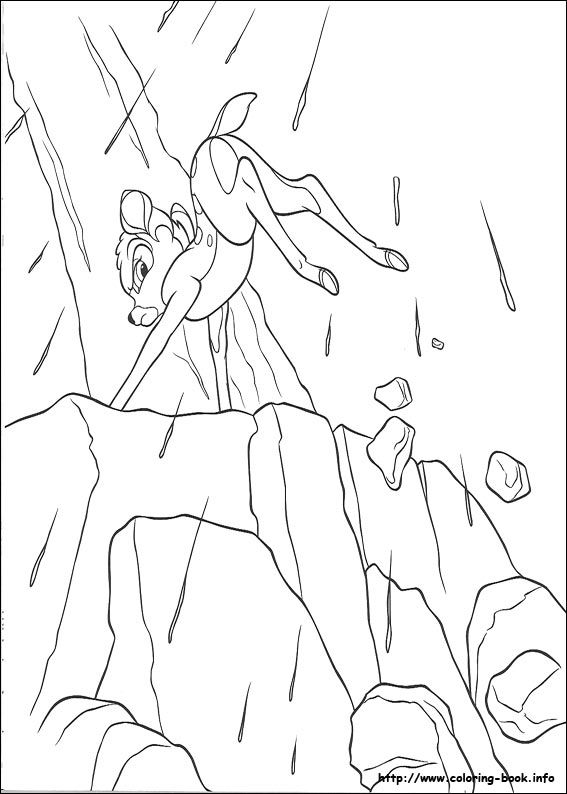 Bambi Coloring Page 24 Is A From BookLet Your Children Express Their Imagination When They Color The