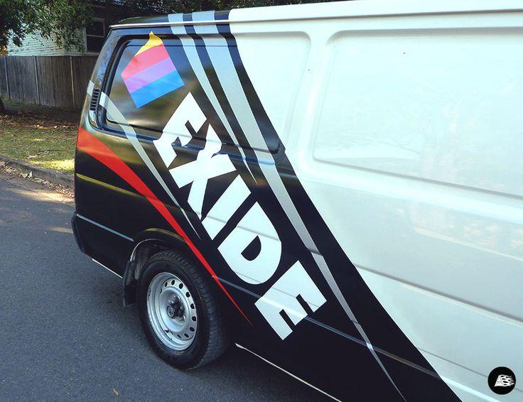 Fleet Branding for Exide Batteries' Toyota Hiace