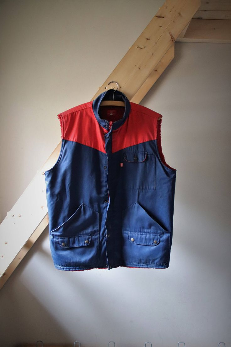 Gilet mécanicien  Vintage veste de travail  unisexe Sporty Urbain  http://etsy.me/2HLKh2w t