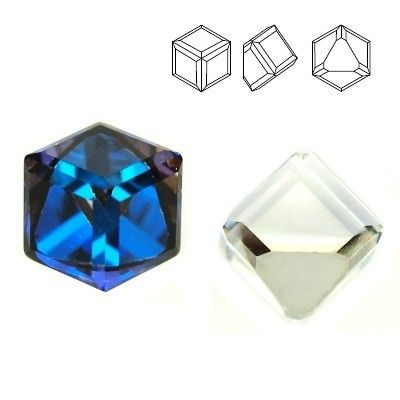 4841 Cube 4mm Bermuda Blue Z  Dimensions: 4mm Colour: Bermuda Blue Z ( Crystal BBL Z ) 1 package = 1 piece