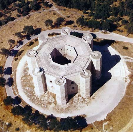 Castle del Monte, Puglia, Italy...completed in 1240 by Frederick II, leader of the Holy Roman Empire