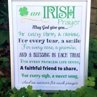 An Irish Prayer- Free Printable for St. Patrick's Day