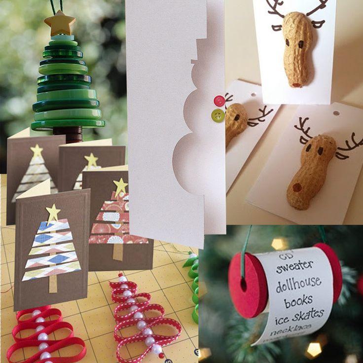 Biglietti natalizi fai da te da realizzare a casa con carta, cartoncino e un po' di fantasia!