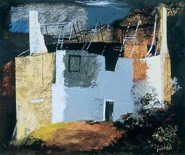 ✽   john piper  -  'derelict cottage, llanthony'