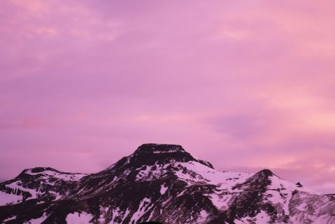 """Pink Mountain by Georgina Campbell A$180.00 Type C Print photograph  6"""" x 9""""  / 15.24cm x 22.86cm  Unframed. Shippped flat. Edition of 5"""