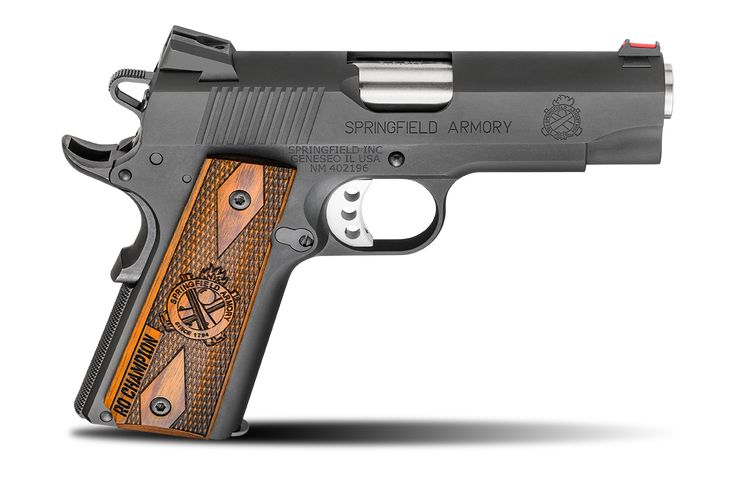 1911 Range Officer® Champion™ Model  9MM    .45ACP          If you want a very high quality full featured 1911 that conceals better than a full-sized pistol without sacrificing capacity, the Range Officer® Champion® from Springfield Armory® offers finely tuned performance in a smaller and easier to shoot package. The RO Champion® brings the precision of a competition pistol in a shortened and lighter-recoiling configuration.