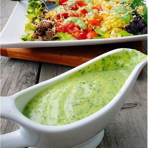 Zesty Avocado Salad Dressing http://www.1mrecipes.com/zesty-avocado-salad-dressing/  Visit www.1mrecipes.com for more salad dressing recipes.
