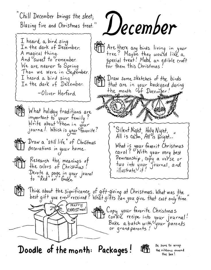 December art journal ideas