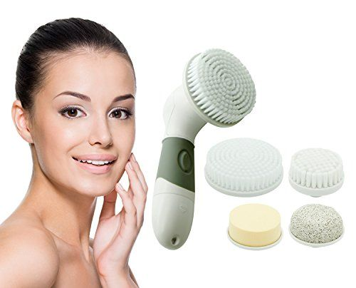 Lowest Price of the year - $25.99 Facial Cleansing Brush Skin Cleansing Set By Spa Day Skin Care for Women & Men; 4 in 1 Kit Exfoliates Deep Cleans Pores, Blackheads, Makeups, Dead Skin & Oil; Anti Aging Microdermabrasion Skincare Treatment Massage & Tighten Skin. For All Skin Types.