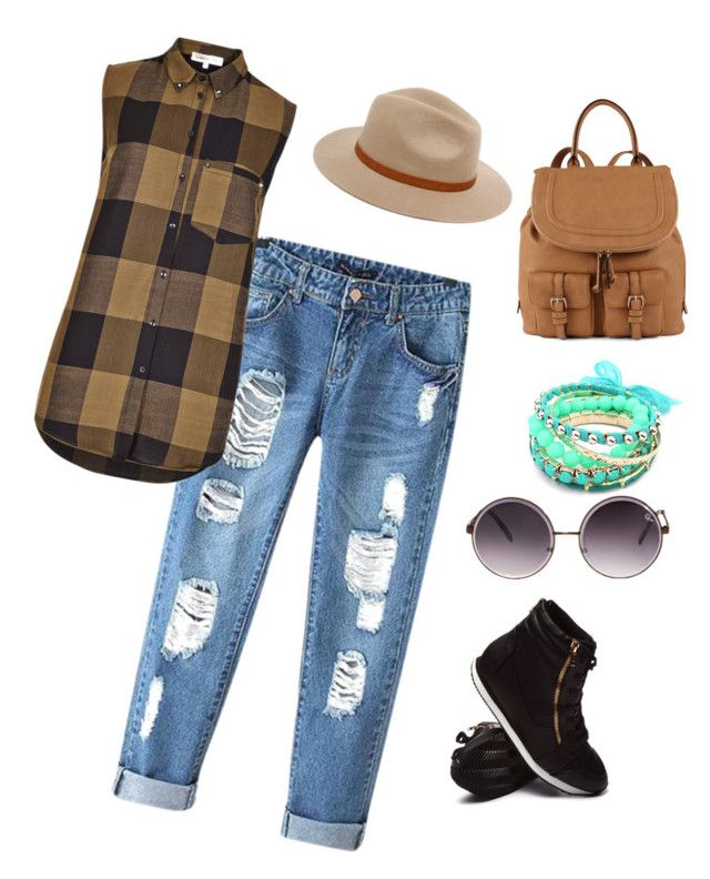 """""""a little neon green on brown colored outfit"""" by pamellaah on Polyvore"""