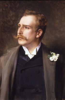 Vittorio Matteo Corcos, Ritratto di Ettore Ximenes Dipinto (1890), olio su tela.