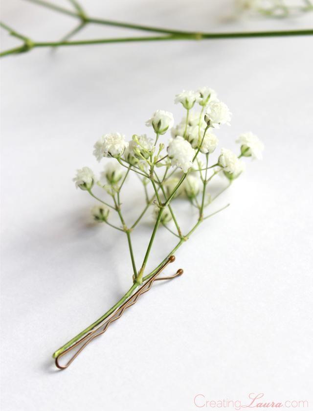 DIY Hair Accessories : DIY Fresh Flower Hair Pin