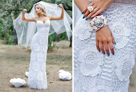Свадебное платье крючком (ирландское вязание). Мастер-класс