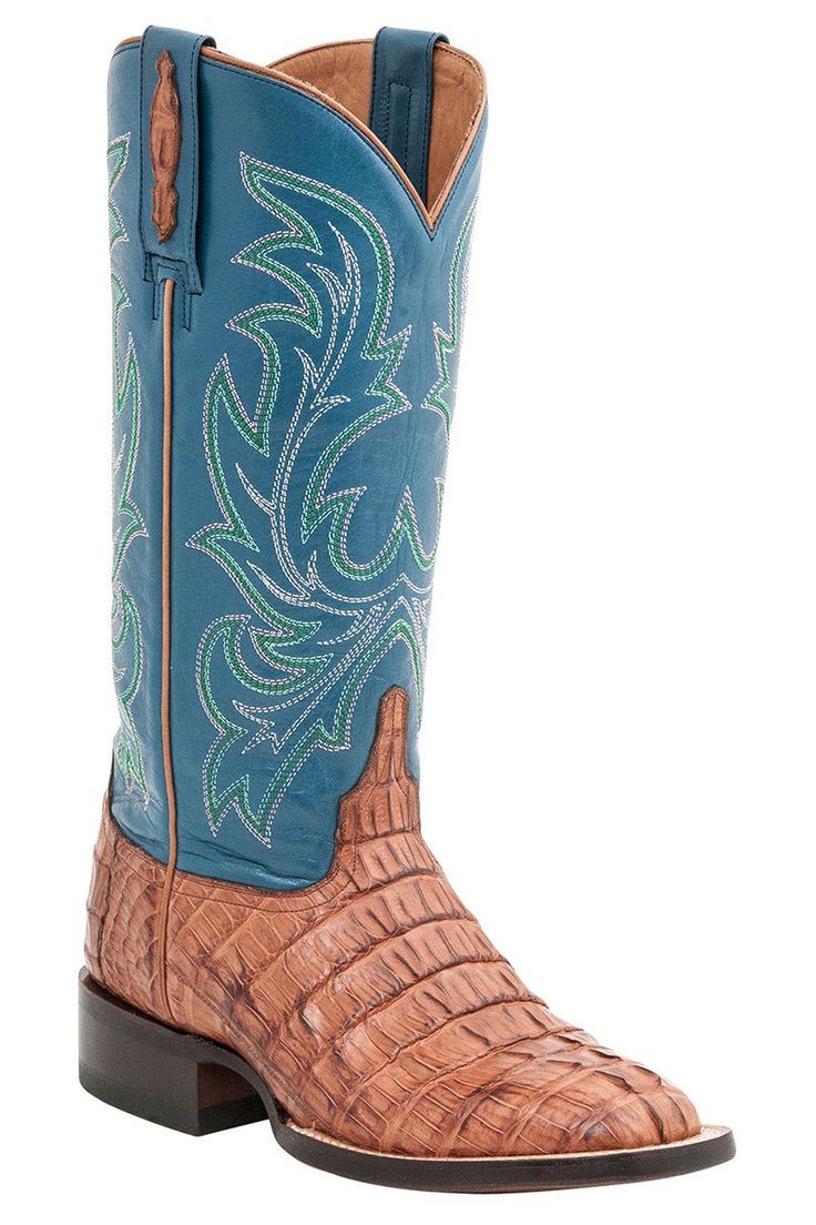 Lucchese Lexie Women's Tan Caiman Cowgirl Boots - HeadWest Outfitters