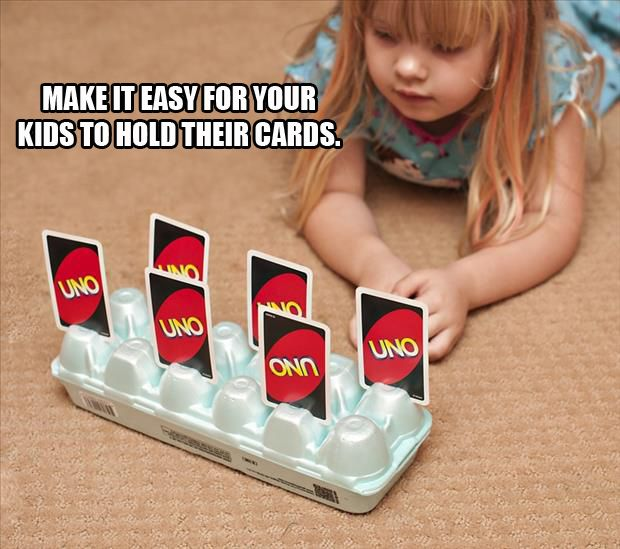 make it easy for your kids to hold their cards