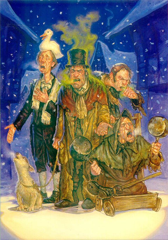 Hogswatch carols sung by the Ankh-Morpork Beggars, by Paul Kidby