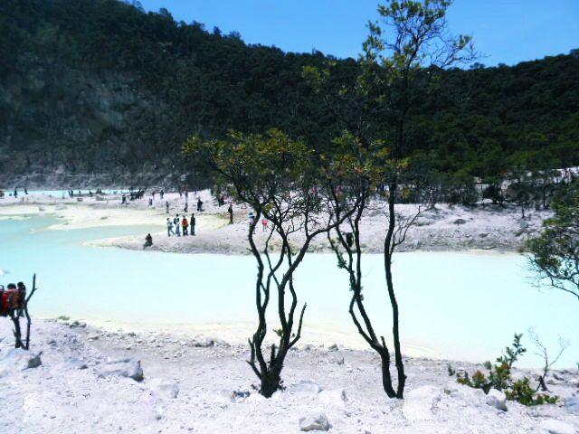 Best Nature tourism Crater Putih, Ciwidey Bandung, Indonesia