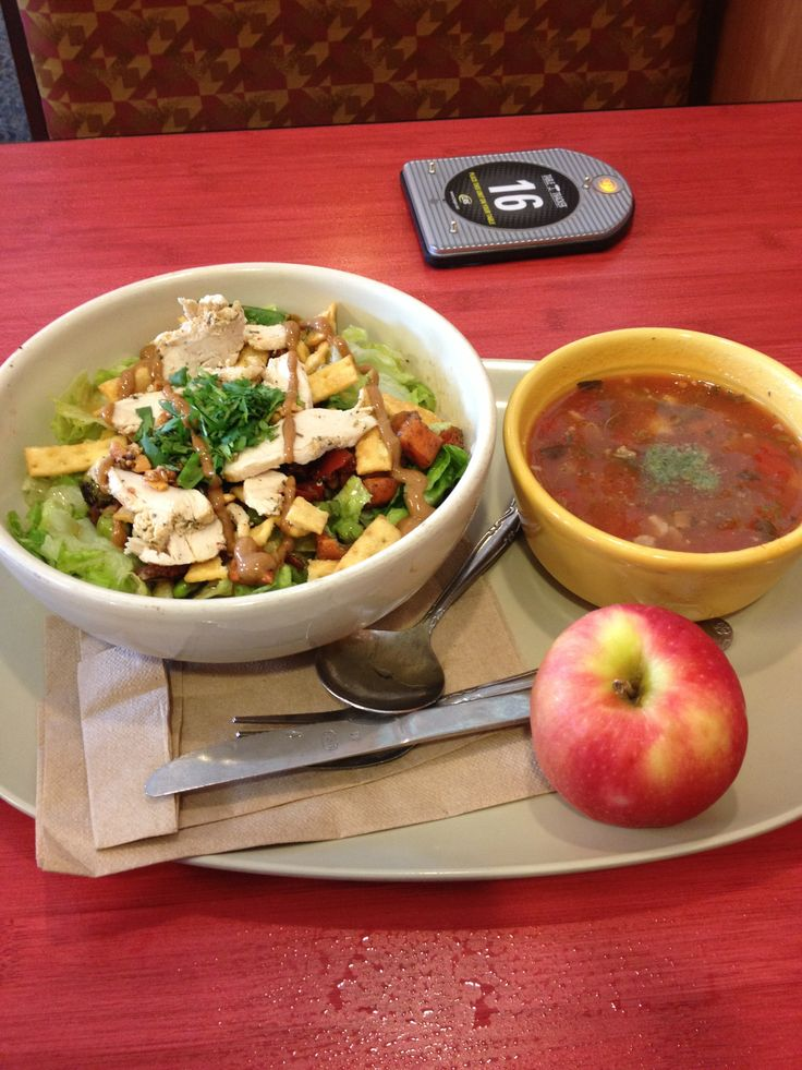 Day 5 Lunch Panera Pick 2 Veggie With Pesto Soup And Thai Chicken Salad I Ate Around The