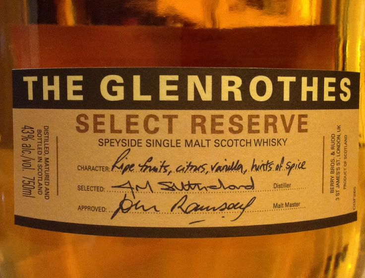 Glenrothes Select Reserve 43%