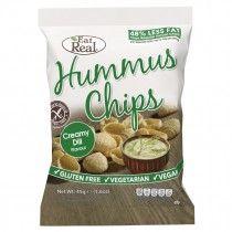 Eat Real gluténmentes Csicseriborsó Chips Kapros ízesítésű 45g