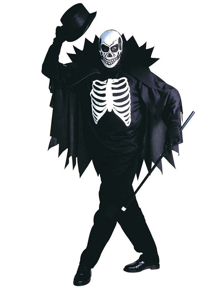 Disfraz de caballero esqueleto elegante para hombre