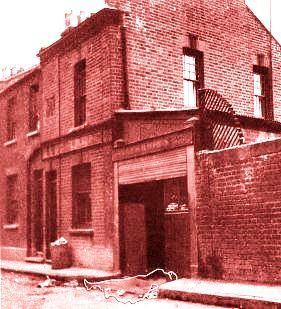 """Buck's Row, Whitechapel 1888. Site of the murder of Jack the Ripper's 1st victim, Mary Ann """"Poly"""" Nichols, on 31 August 1888"""