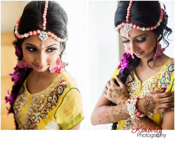 Fresh Flower Jewelry For Brides : Naureen and talha mehndi night indian wedding