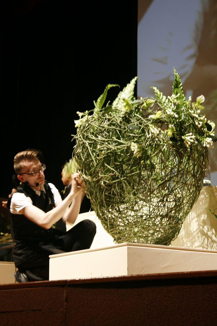Stein Are Hansen Norwegian Master Florist current Interflora World Cup holder & tutor for the Fusion Flowers Summer School 2014