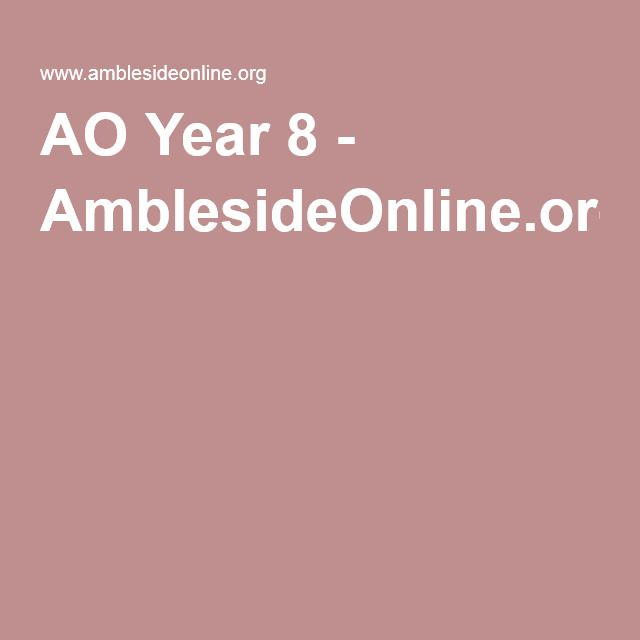 19 best hs curriculum images on pinterest curriculum ao year 8 amblesideonline fandeluxe Image collections